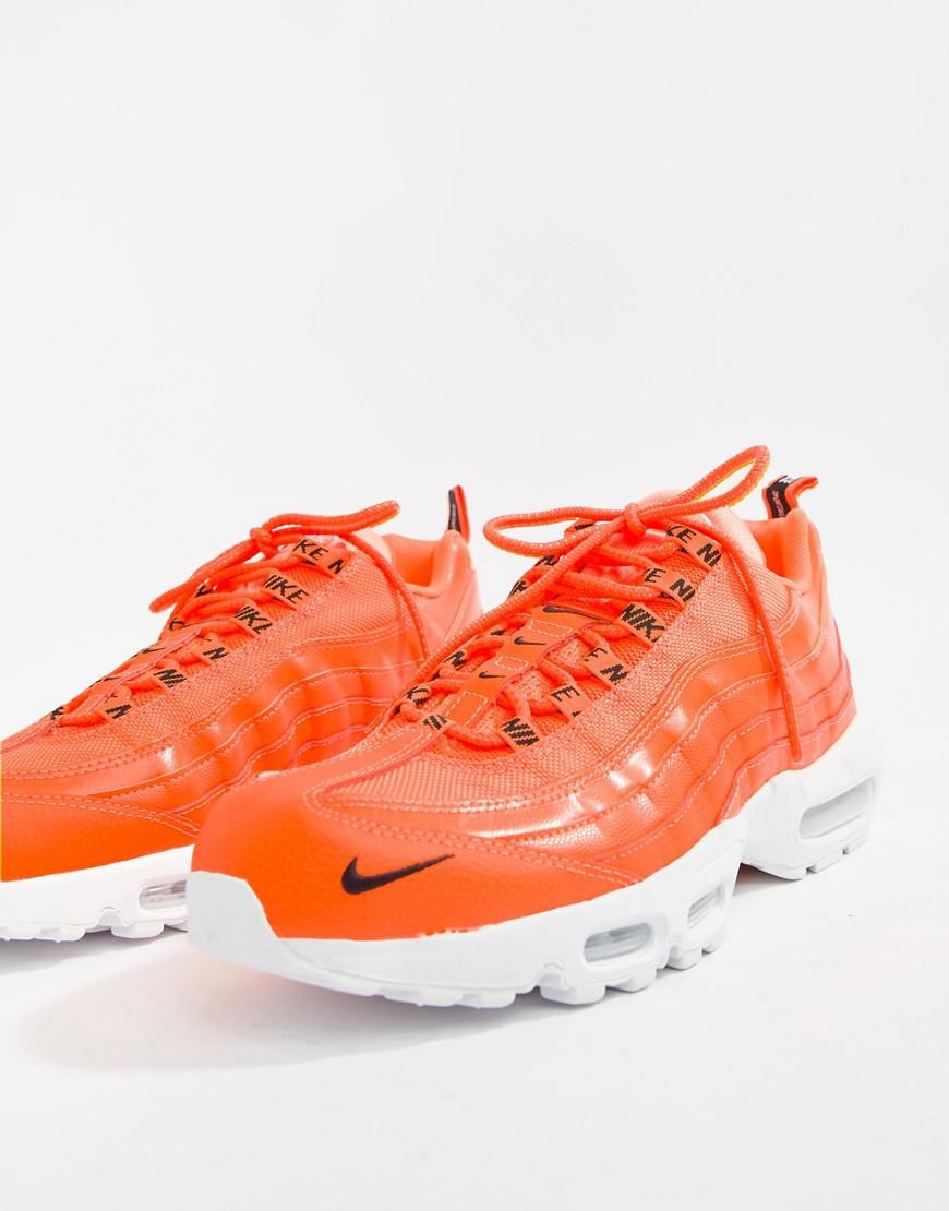 new concept eb4d3 1e731 Nike - Air Max 95 Premium Trainers In Orange 538416-801 for Men - Lyst. View  fullscreen