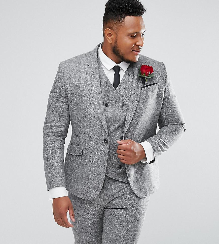 Buy Cheap Marketable Official Sale Online PLUS Wedding Skinny Suit Waistcoat In 100% Silk Textured Grey - Light grey Asos Sale Release Dates Clearance Big Sale LcHKq