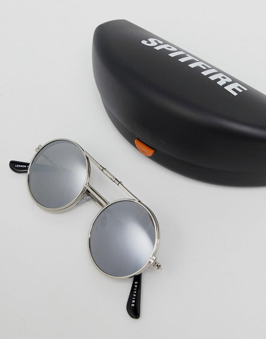 e98b8910fc1c1e Lyst - Lunettes de soleil ronde à monture relevable Spitfire pour ...