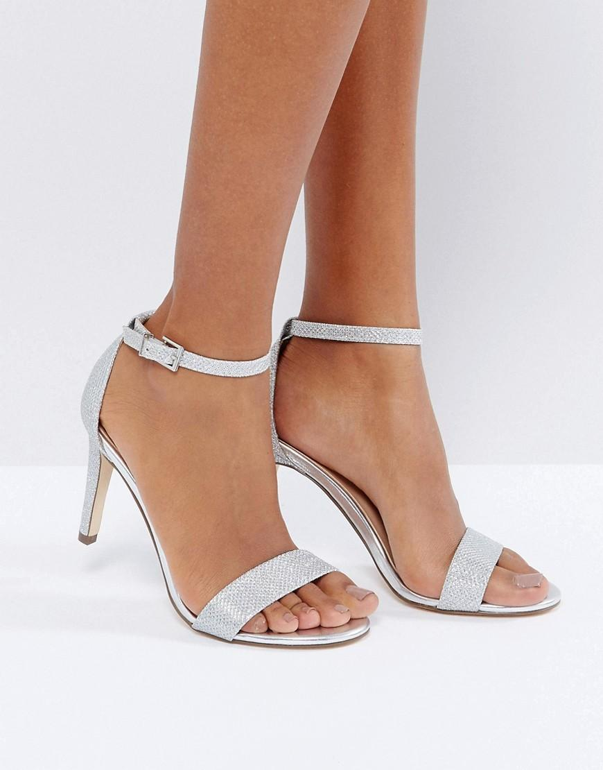 Lyst Call It Spring Ahlberg Silver Barely There Heeled