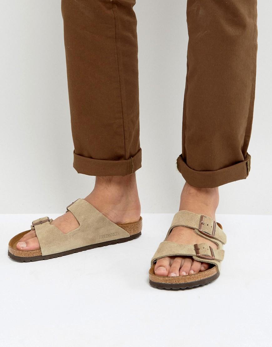 Lyst Birkenstock Arizona Suede Sandals In Natural
