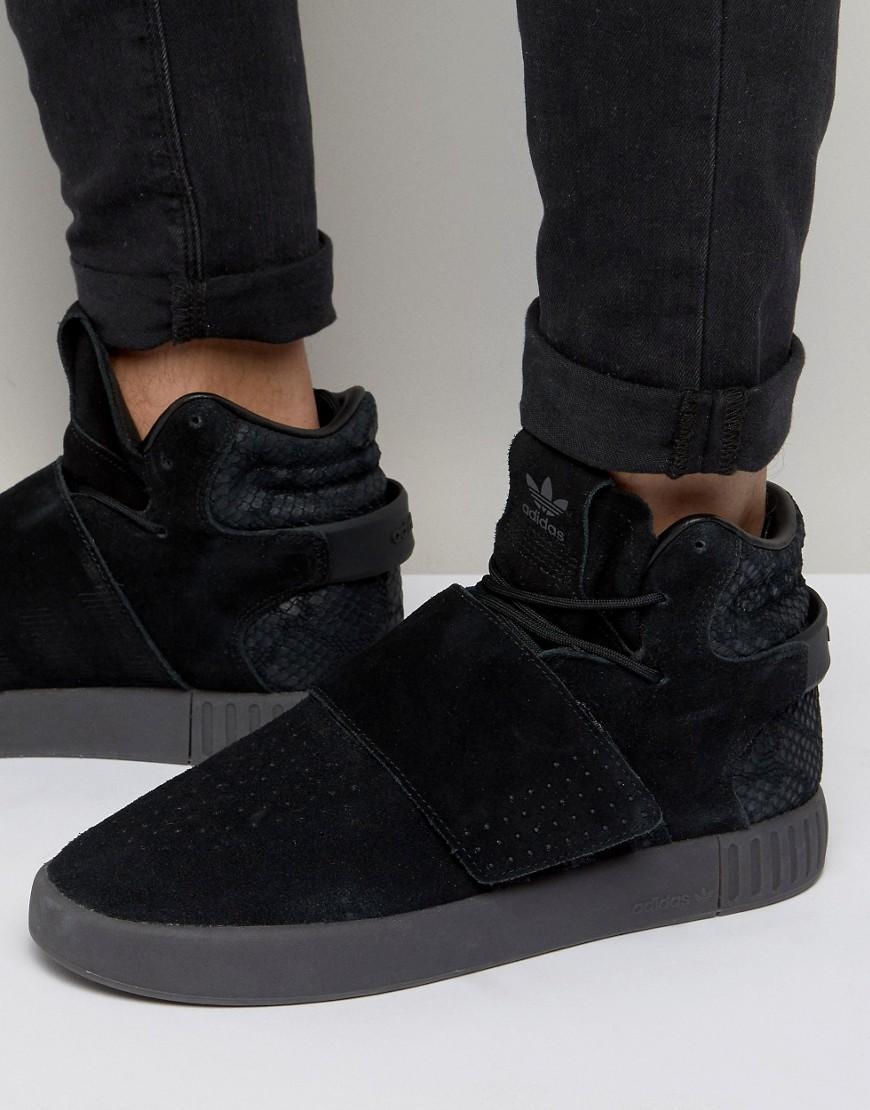 b247e982cd34 adidas Originals Tubular Invader Str Sneakers In Black Bb8392 in ...