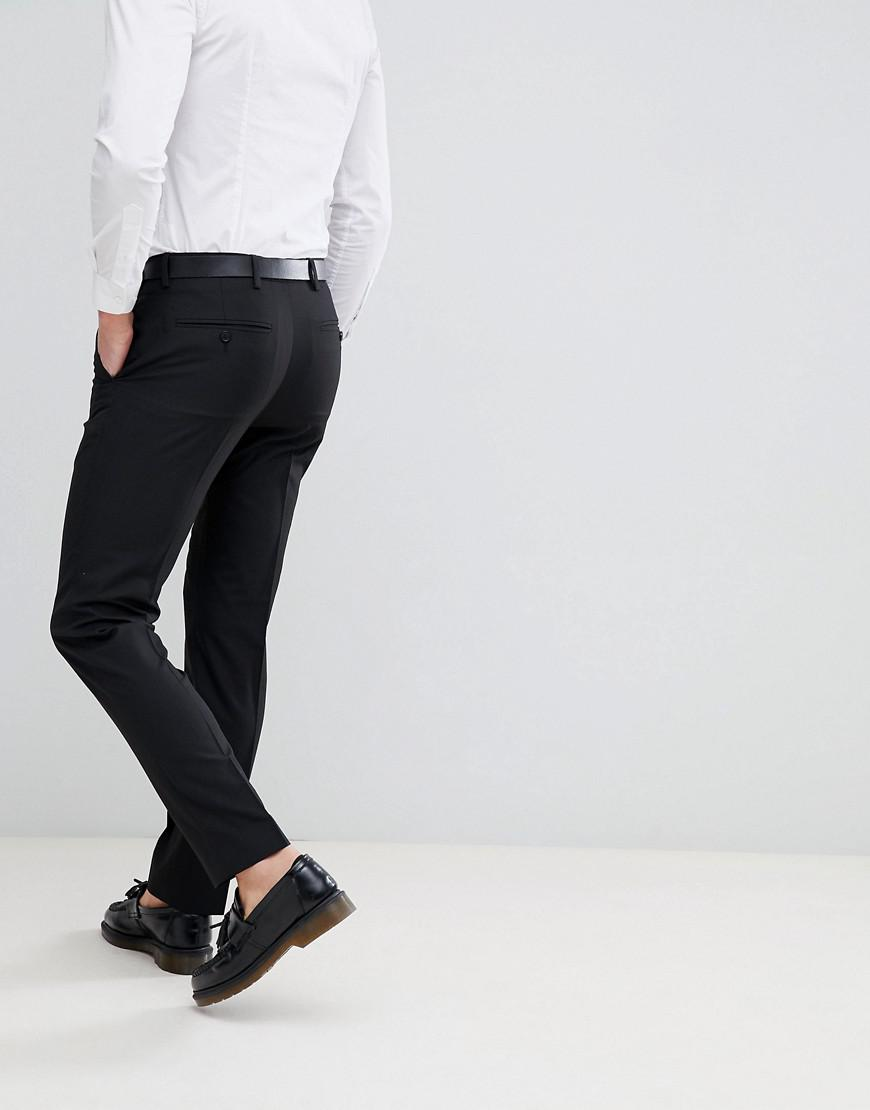 c9cc29018516 Lyst - French Connection Slim Fit Smart Pants in Black for Men