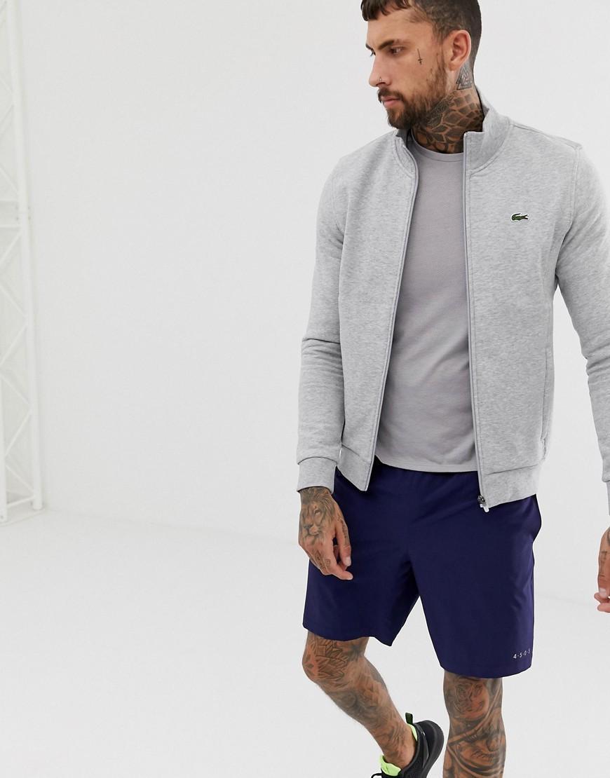 3bde040a59f5 Lacoste Sport Zip Trhough Sweat In Grey in Gray for Men - Lyst