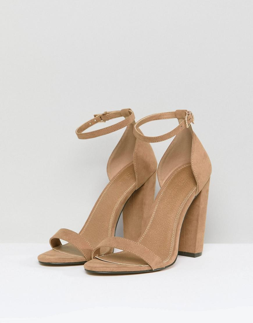 ASOS DESIGN Highball barely there heeled sandals SaXV8
