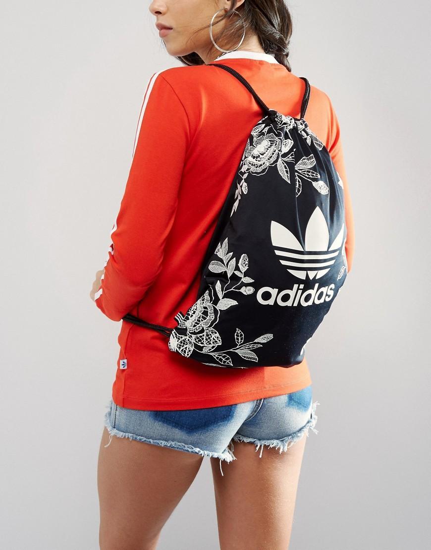 fd72cf2cd0 Lyst - adidas Originals Originals Farm Print Drawstring Backpack In ...
