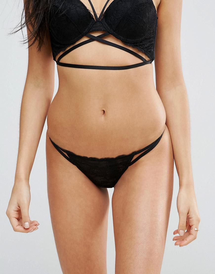 Buy Cheap Shopping Online Becca Strappy Lace Thong - Black Asos Clearance Ebay Buy Cheap Looking For Buy Cheap Manchester Great Sale BQdox
