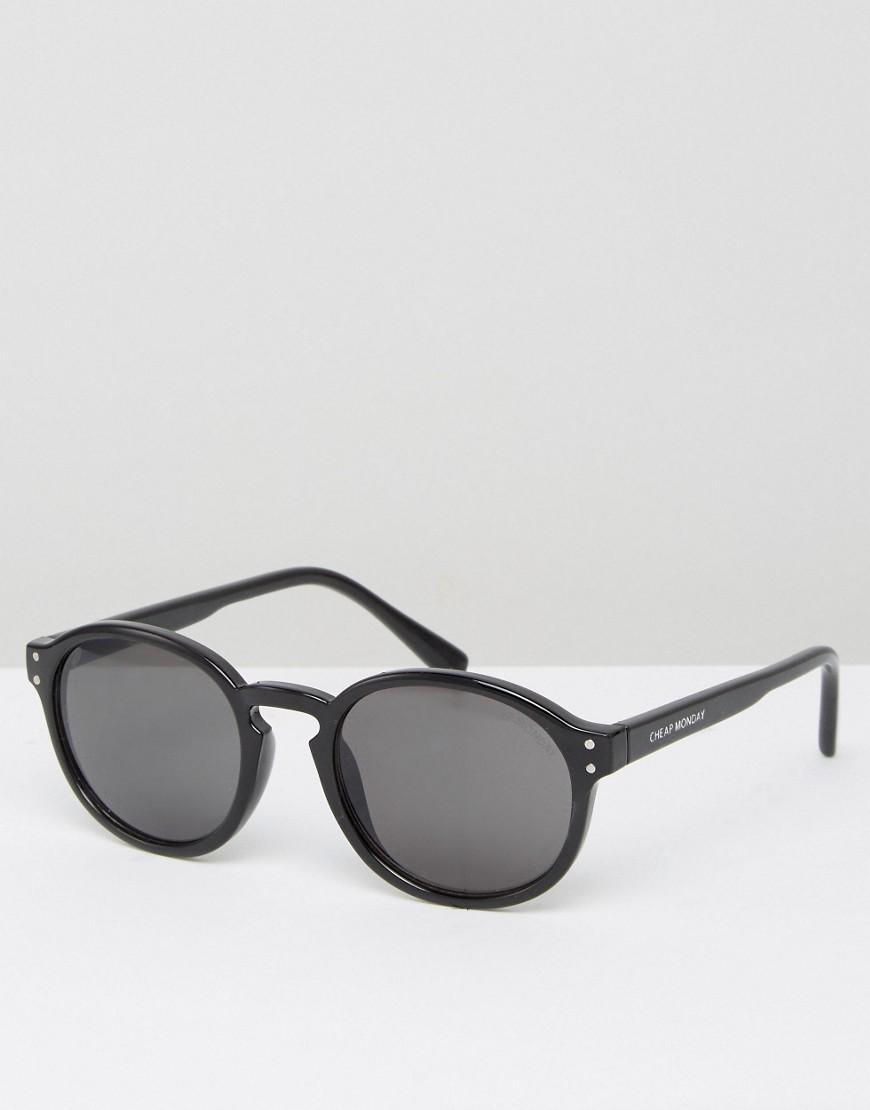eb5e0cd16f9 Cheap monday Round Sunglasses In Black in Black