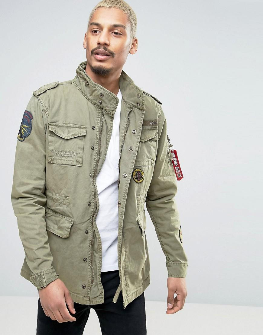 Lyst Alpha Industries M65 Field Jacket With Patches In