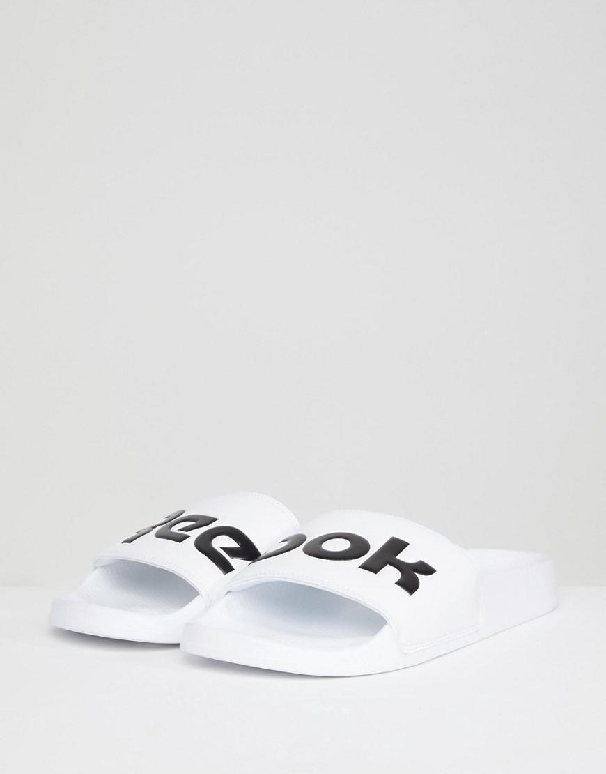 4f75a8881 Reebok Split Sliders In White Cn0736 in White for Men - Lyst