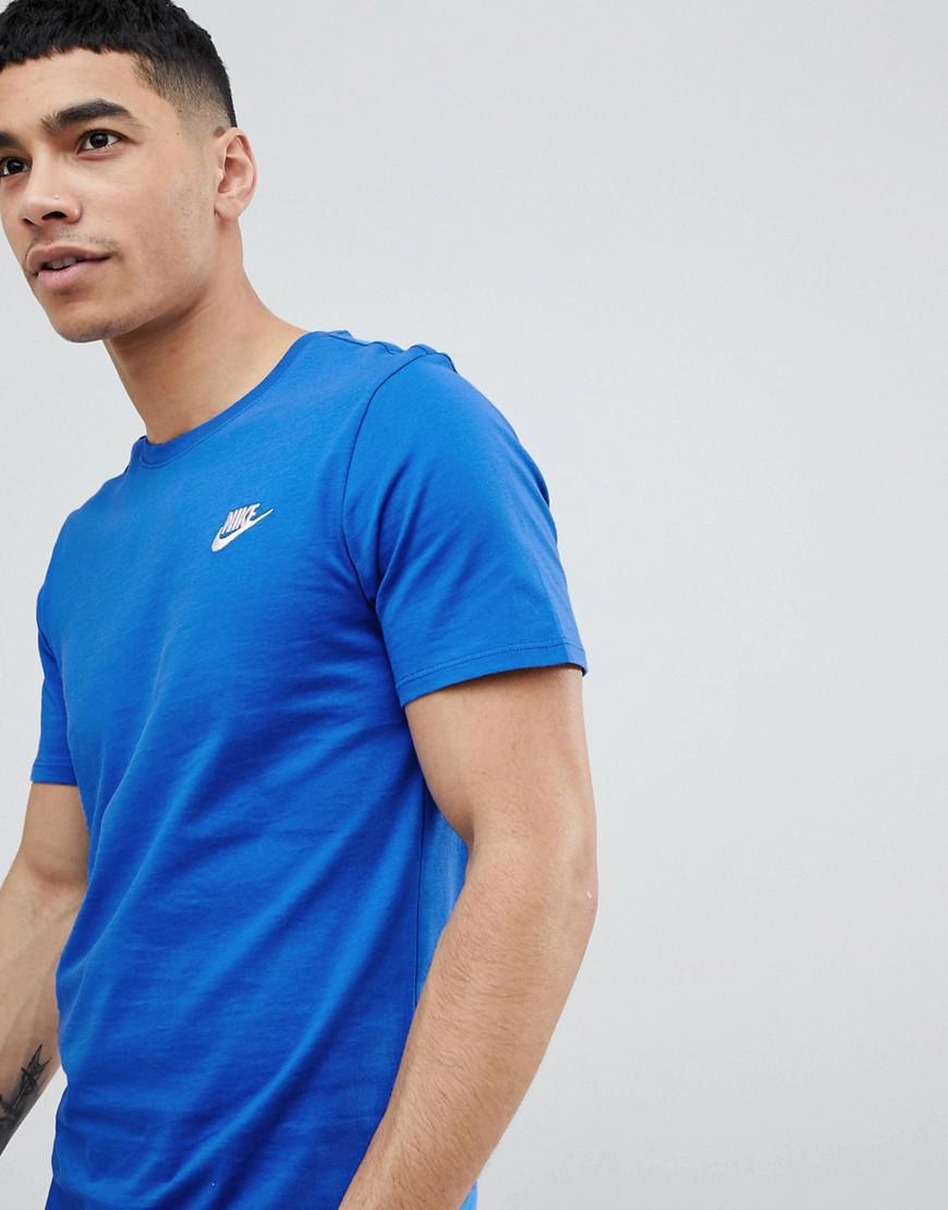 a23dbafeb Nike Futura Logo T-shirt In Blue 827021-463 in Blue for Men - Lyst