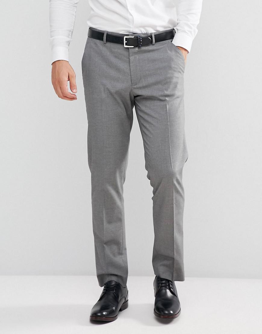 Pantalon De Costume Mince En Gris Mi - Asos Gris fKkY4XAA