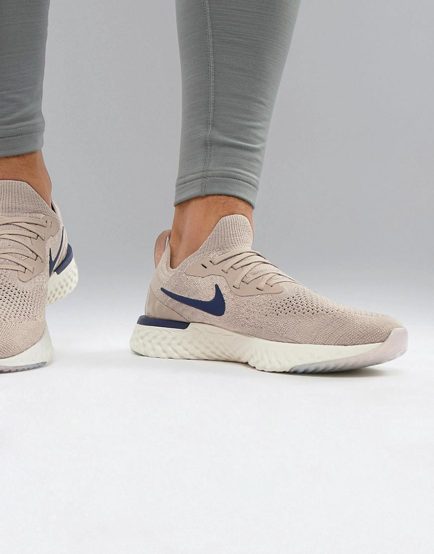 buy popular edbbc 02621 Nike Epic React Flyknit Sneakers In Beige Aq0067-201 in Natural for ...
