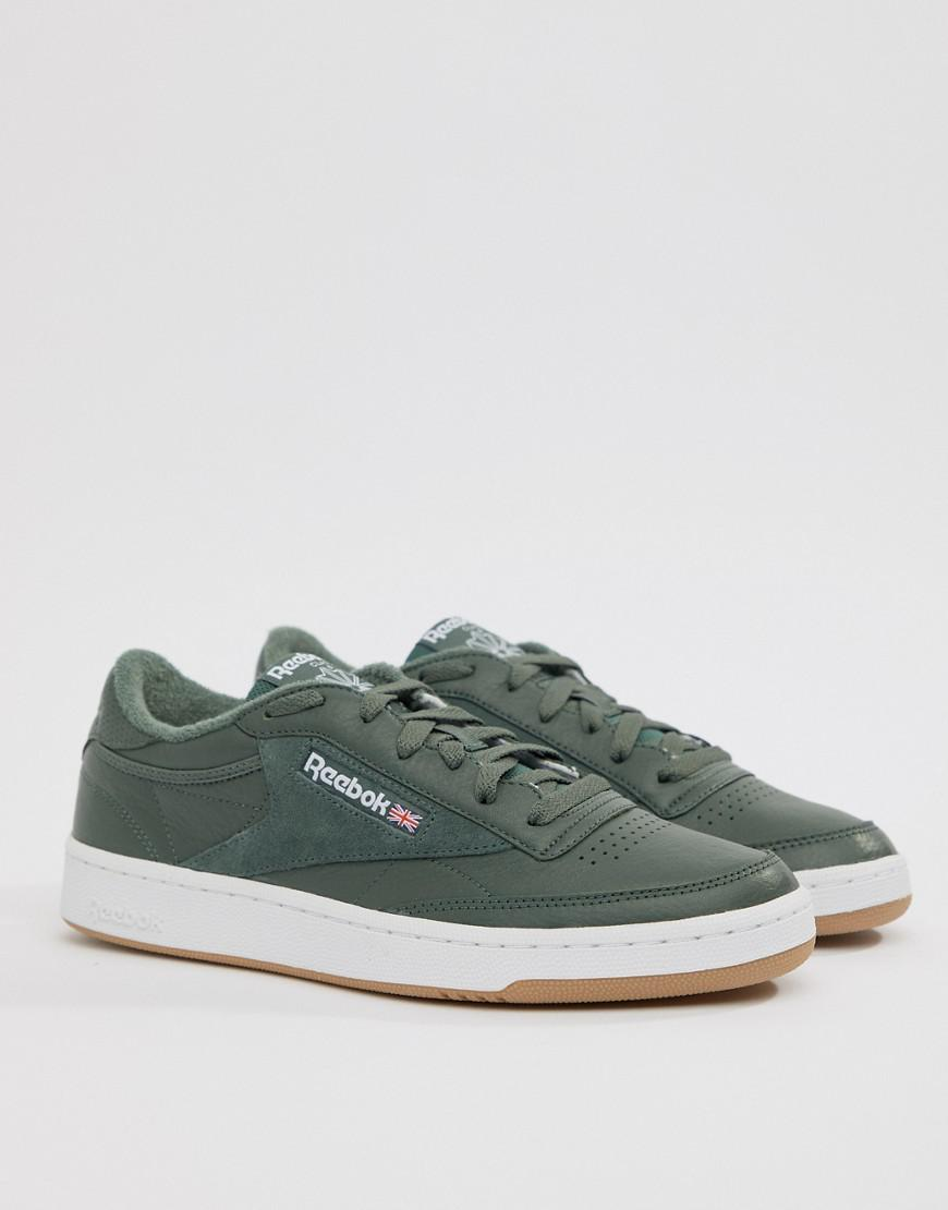 Reebok Club C 85 Essential Trainers In Green Cm8793 in Green for Men ... 62a9d8552