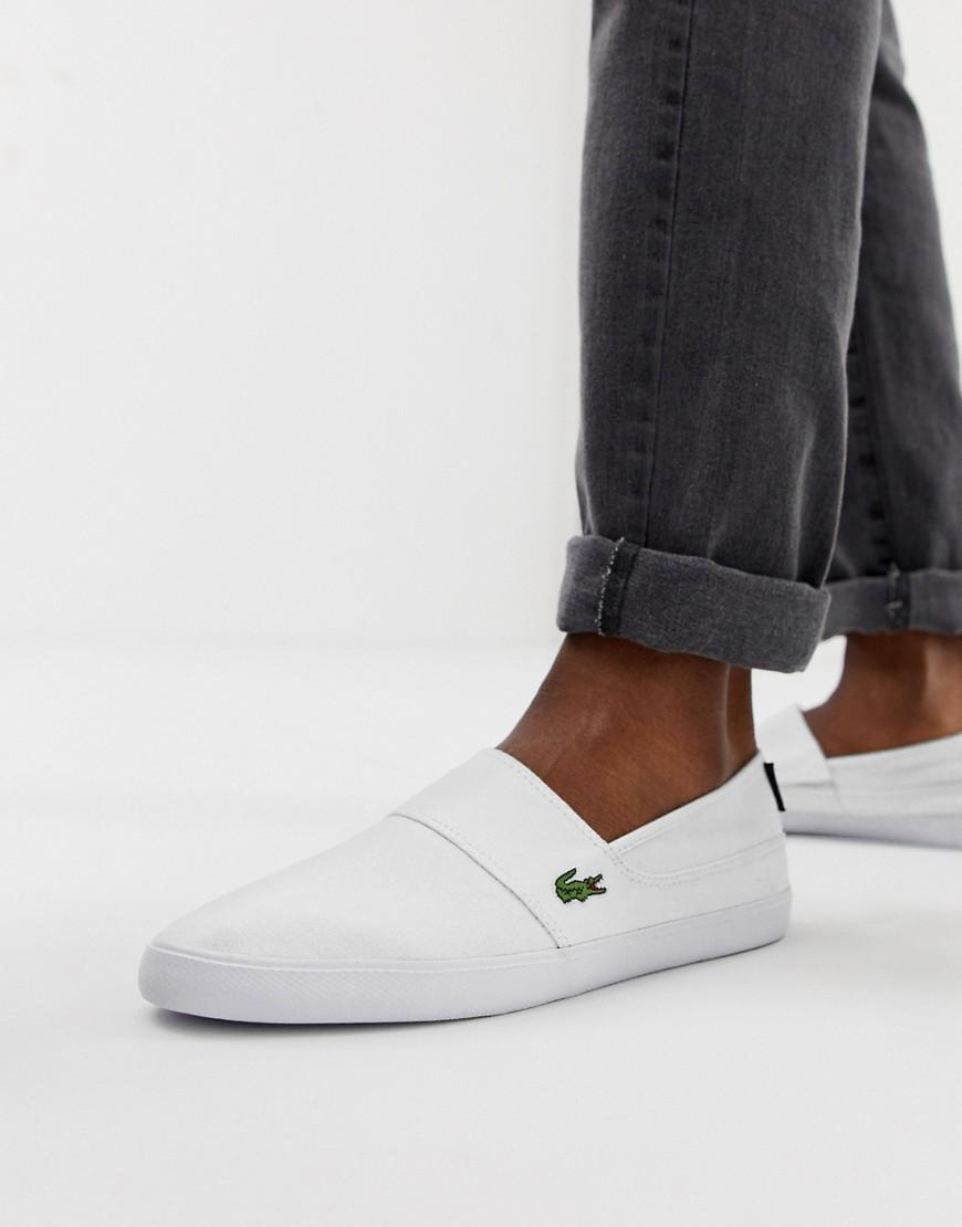 a1a1957b8c32 Lacoste Marice Slip On Plimsolls In White in White for Men - Lyst