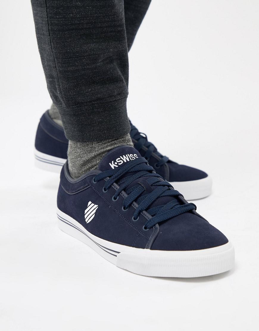 c08e9ec7288007 Lyst - K-swiss Bridgeport Ii Sneakers In Suede in Blue for Men