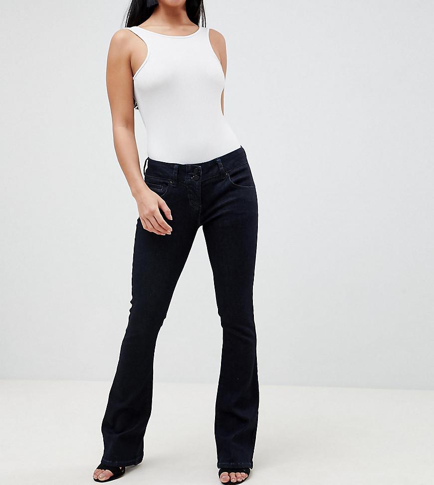 ASOS DESIGN Petite Super Low Rise Flared Jeans In Indigo - Indigo Asos Petite E25rBj