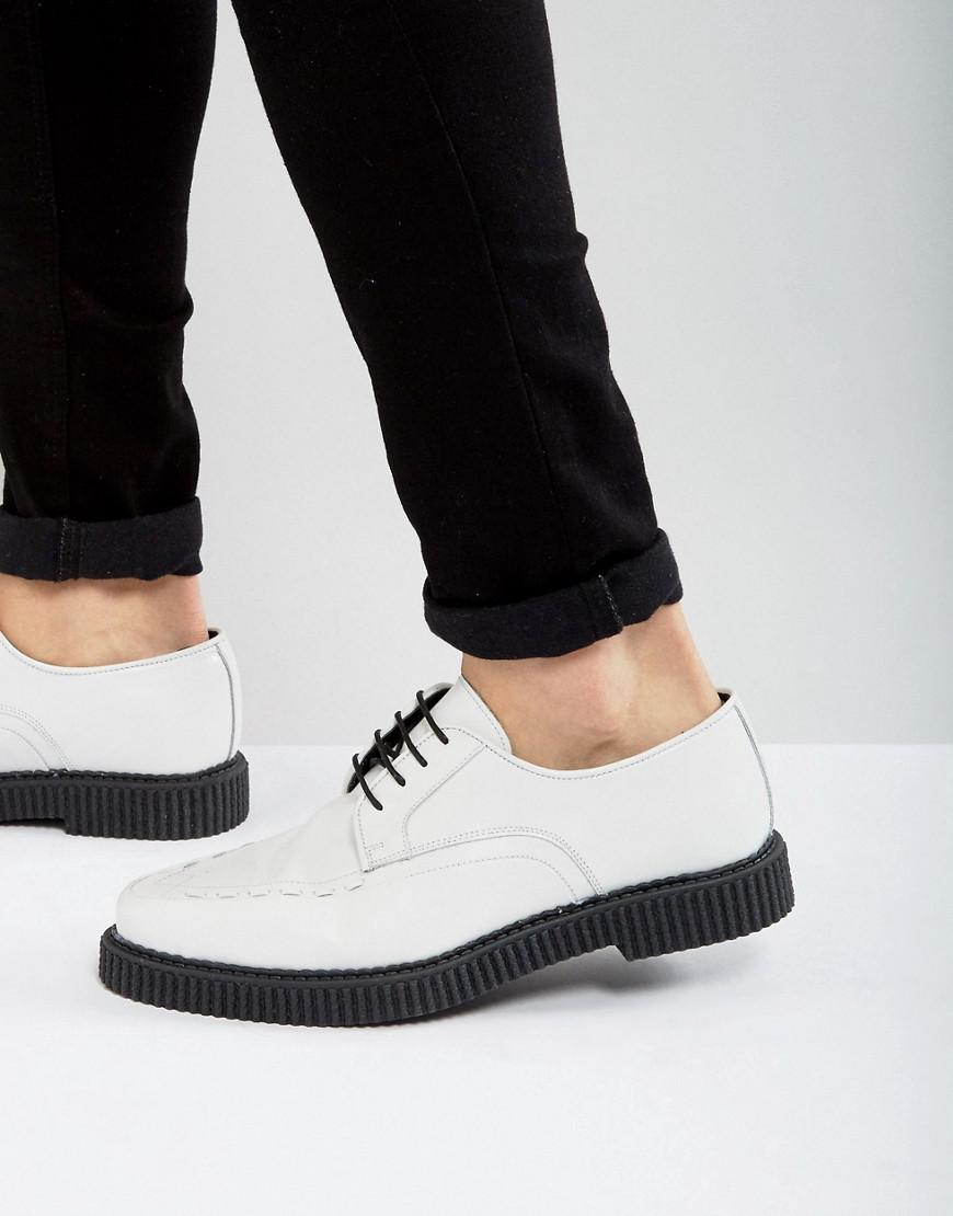 DESIGN Lace Up Creeper Shoes In Light Blue Suede - Blue Asos Cheap Sale Looking For Outlet With Mastercard UmjQh2L4