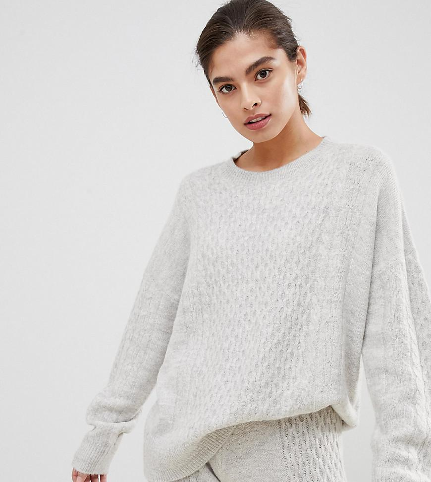 948f44a8e5 Lyst - Micha Lounge Luxe Sweater In Cable Knit Two-piece in Gray