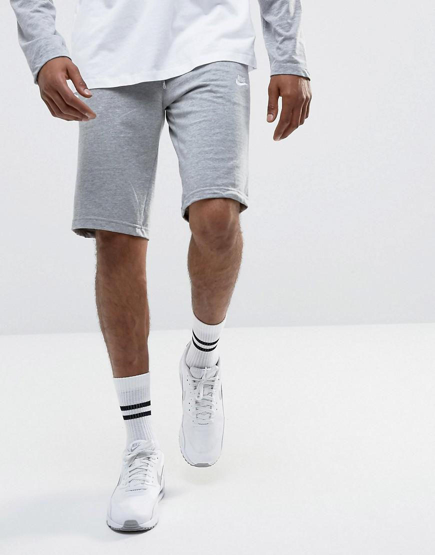 90a73a6196 ... timeless design 8be4a 26851 Nike. Mens Gray Jersey Shorts .. ...