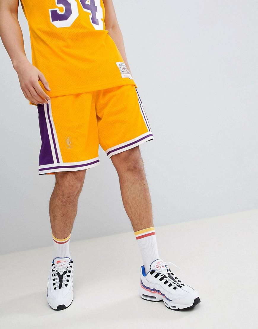 b37c7d052a5 Lyst - Mitchell   Ness Nba Lakers Swingman Shorts In Yellow in ...