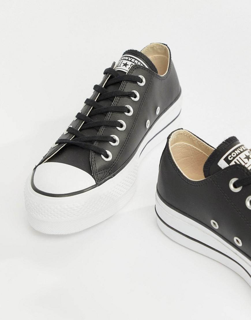 05c13e074fede9 Converse. Women s Chuck Taylor All Star Leather Platform Low Trainers ...
