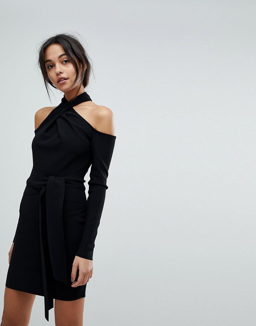 bc867060d5a7 Bec & Bridge Bec & Brideg Halter Cold Shoulder Mini Dress in Black ...