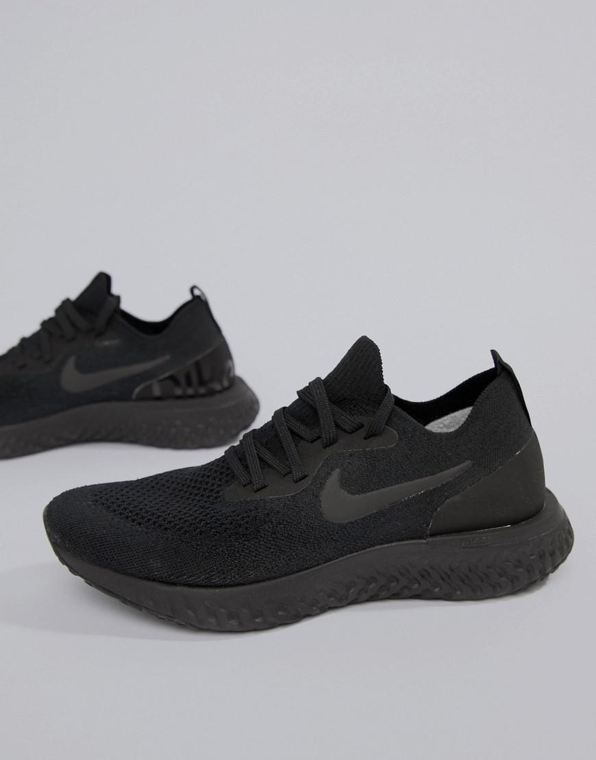 a15d6b25cb87 Nike Epic React Trainers In Black in Black - Save 40% - Lyst
