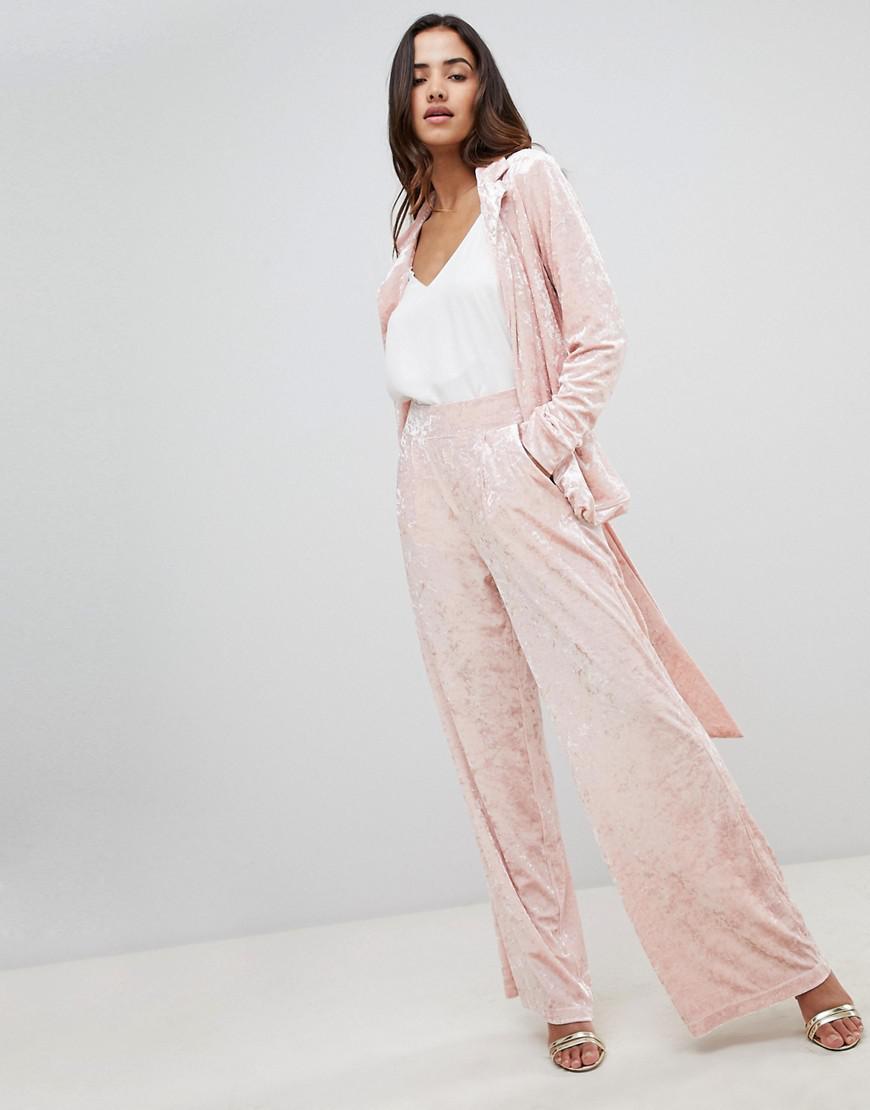 Unique 21 Slim Leg Trousers Co-Ord - Pink Unique21 GDreNa