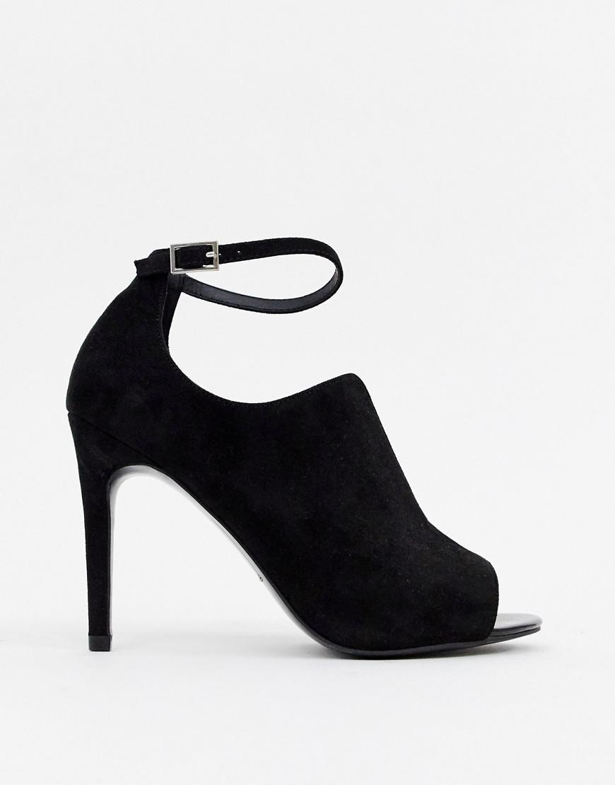 0ebc9482d5cf Lyst - ASOS Wide Fit Worth High Heels in Black