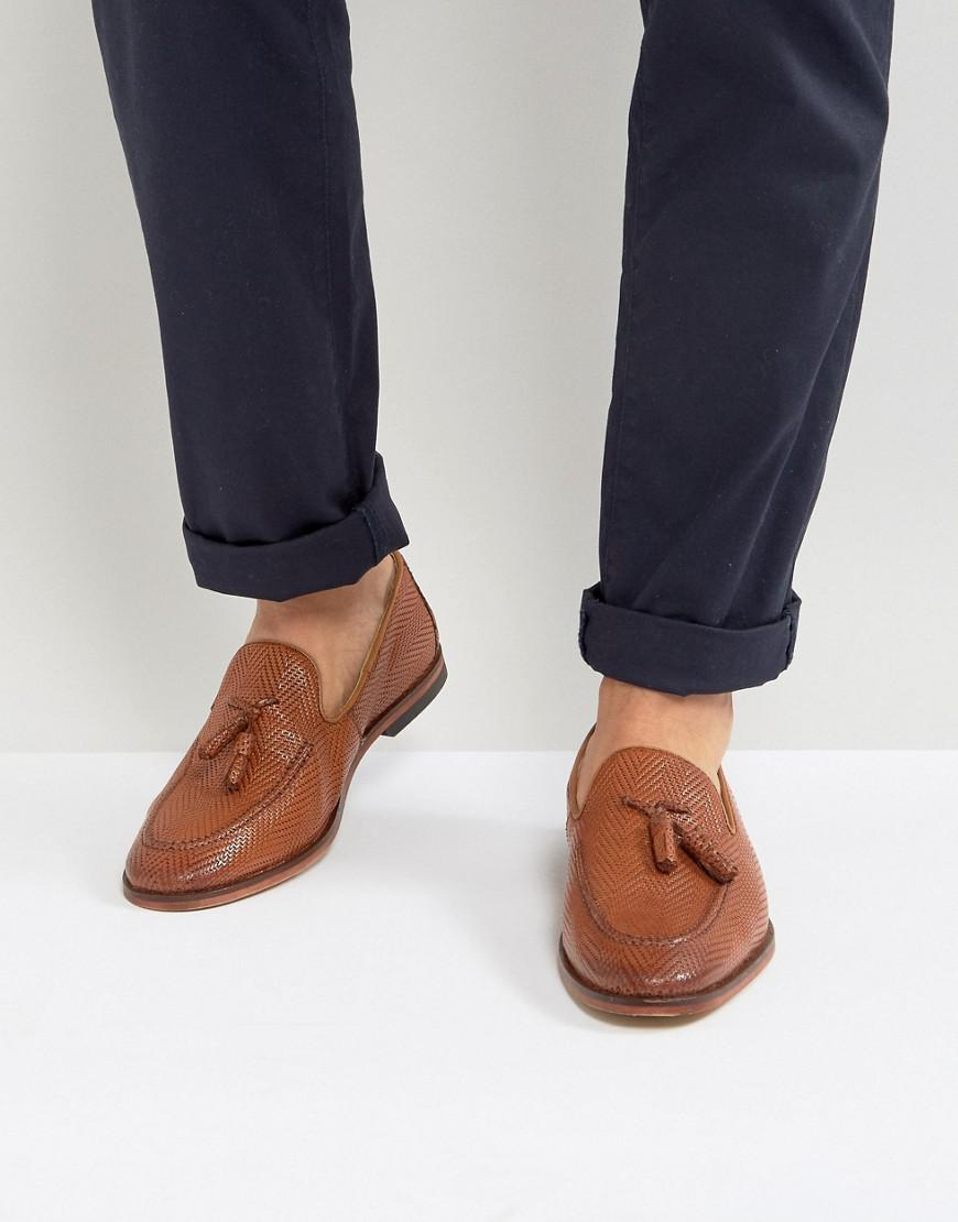ASOS. Men's Brown Loafers In Tan Leather With Tassel