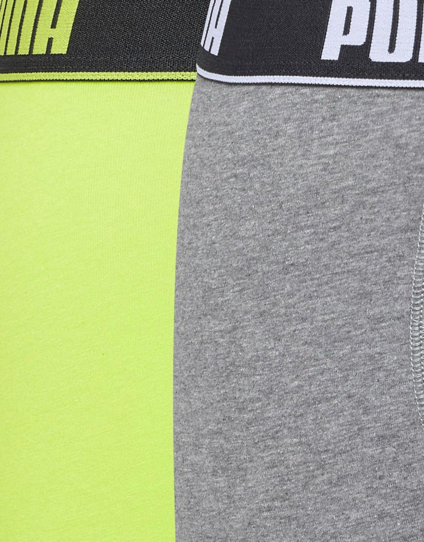 2 Back Basic Elastic Boxers In Green 671001001007 - Green Puma Clearance Purchase 5MhZeyHQkV