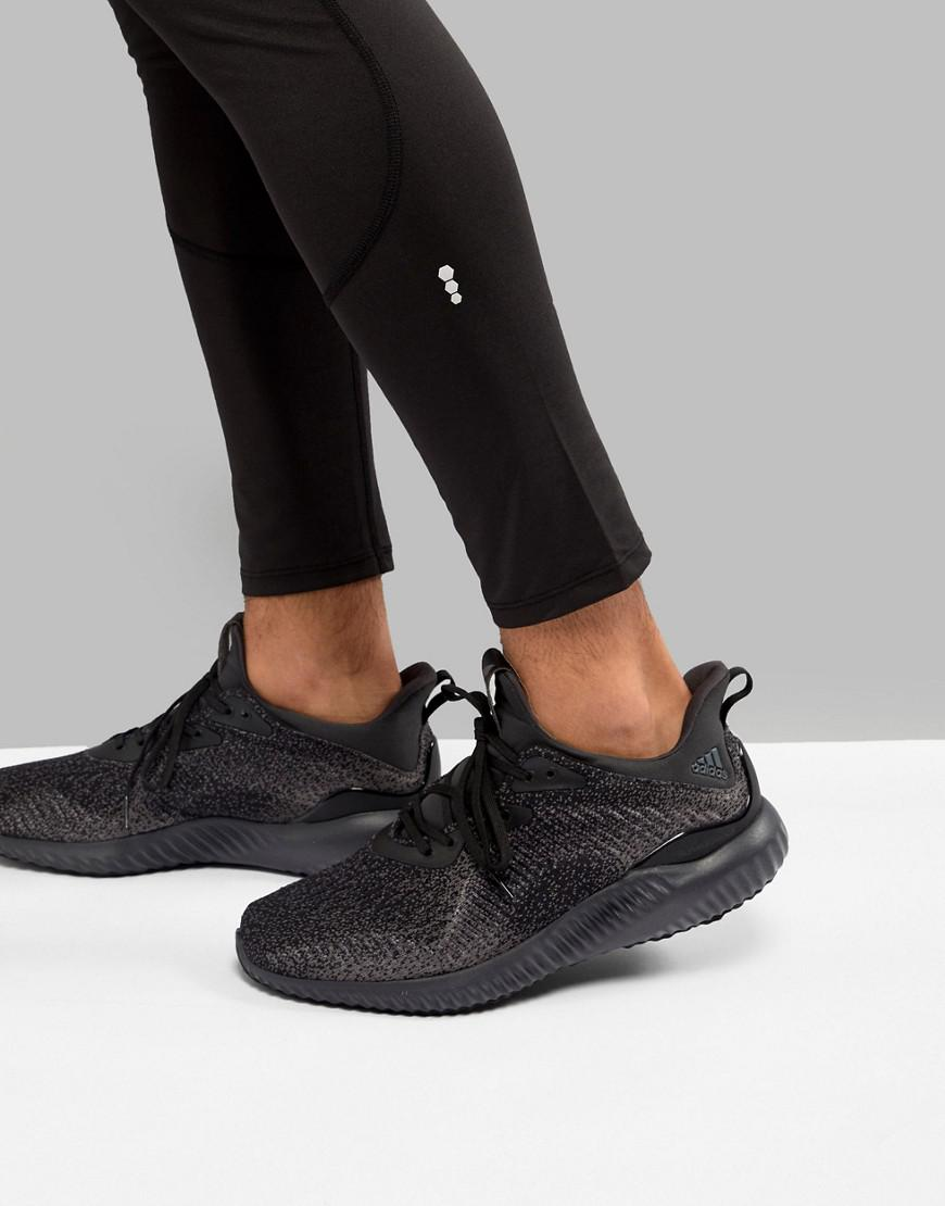 81a6651ce9f7 Lyst - adidas Running Alphabounce Sneakers In Black Db1090 in Black ...