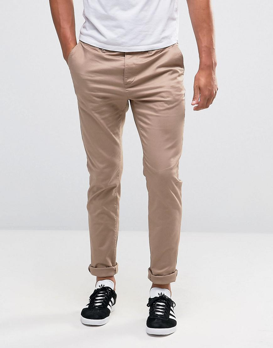 c43872032085ad ASOS Skinny Chinos in Natural for Men - Lyst
