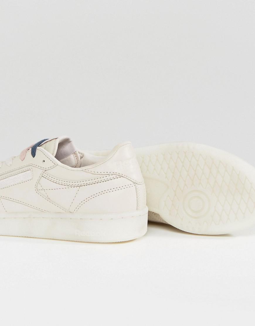 the latest 89677 5b98e Reebok Classic Club C 85 Face Sneakers In Nude in Natural - Lyst