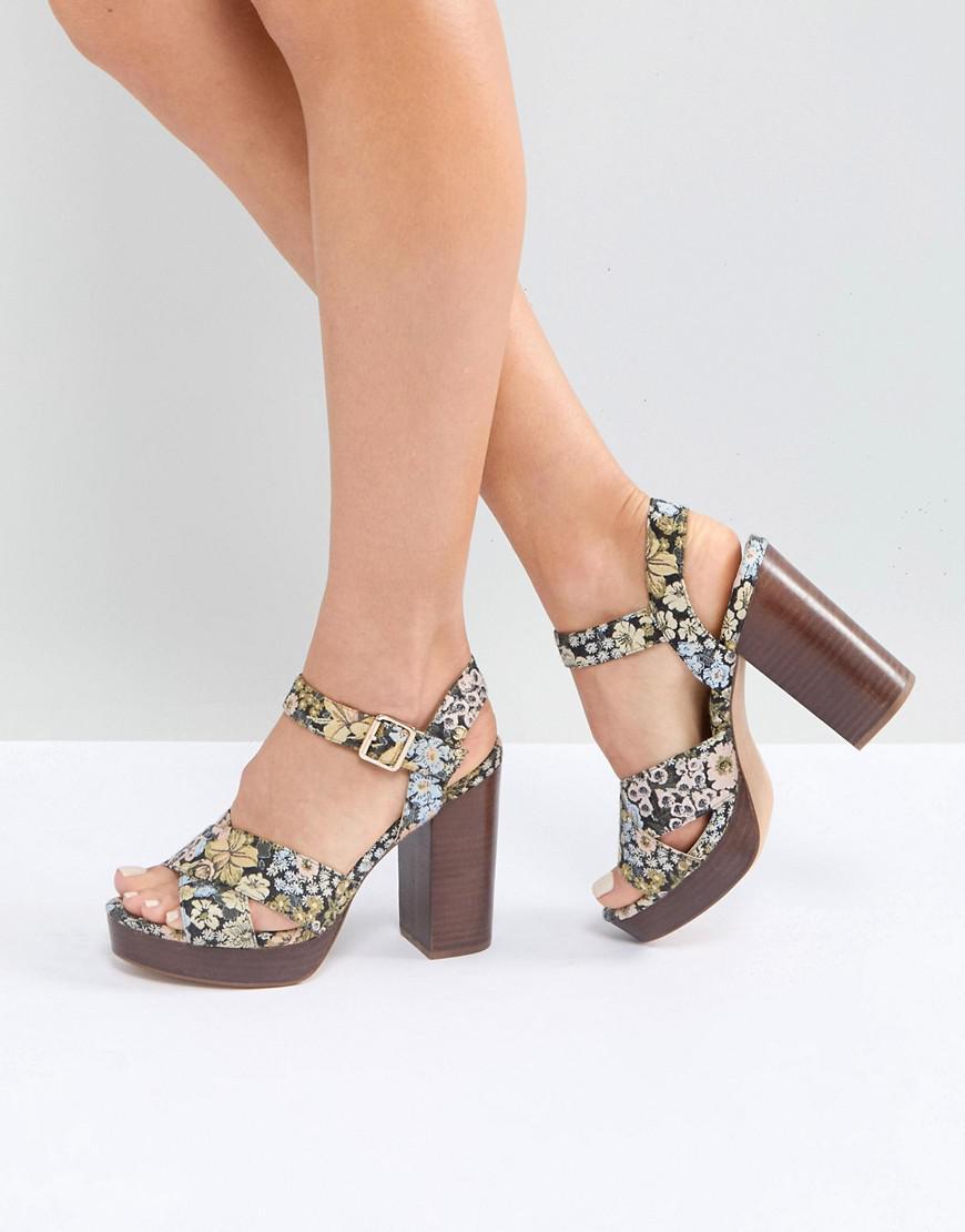 TIA Casual Platform Sandals - Floral Asos HX4yDriu