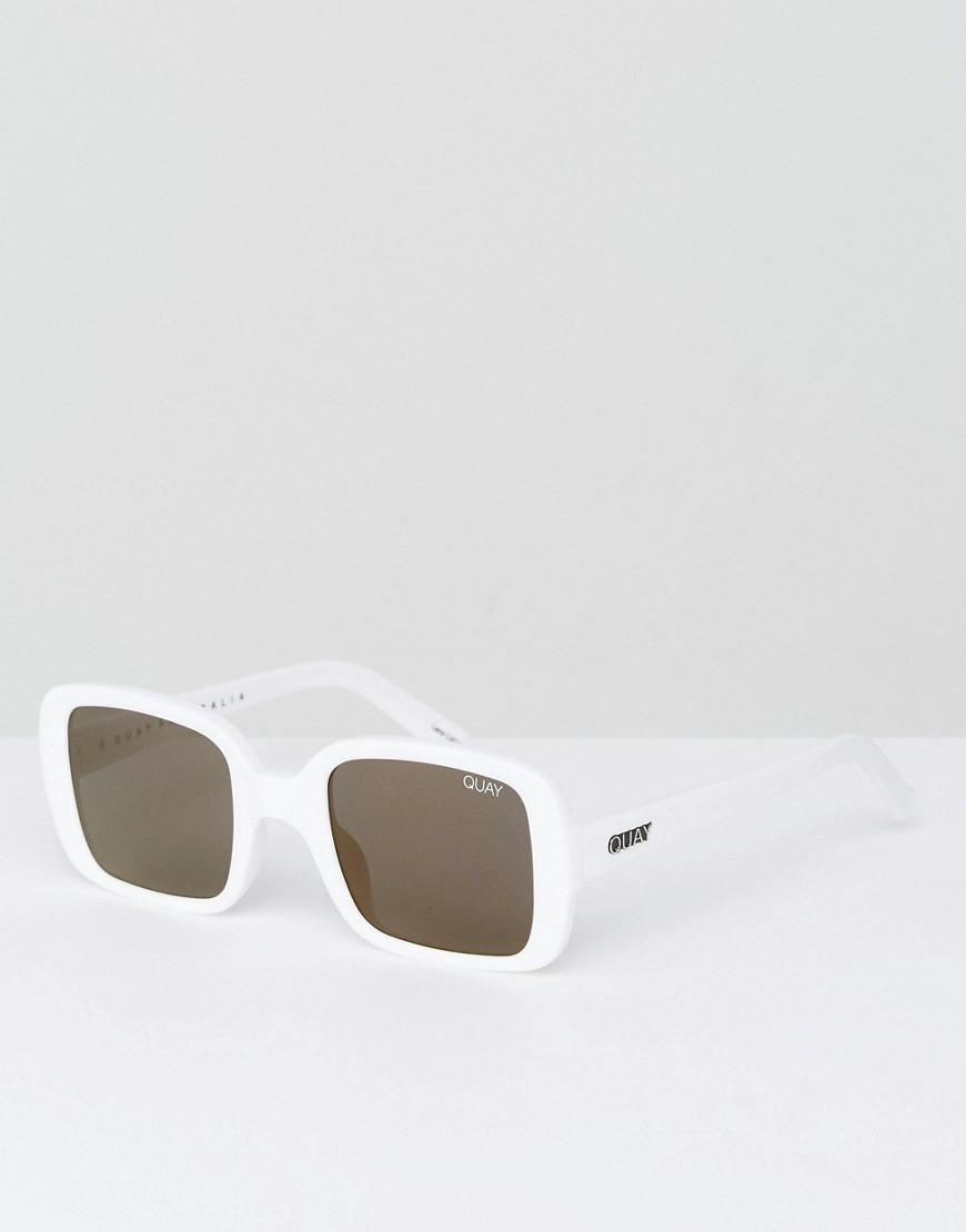 ced33028fc Quay 20s Oversized Square Sunglasses In White in White for Men - Lyst