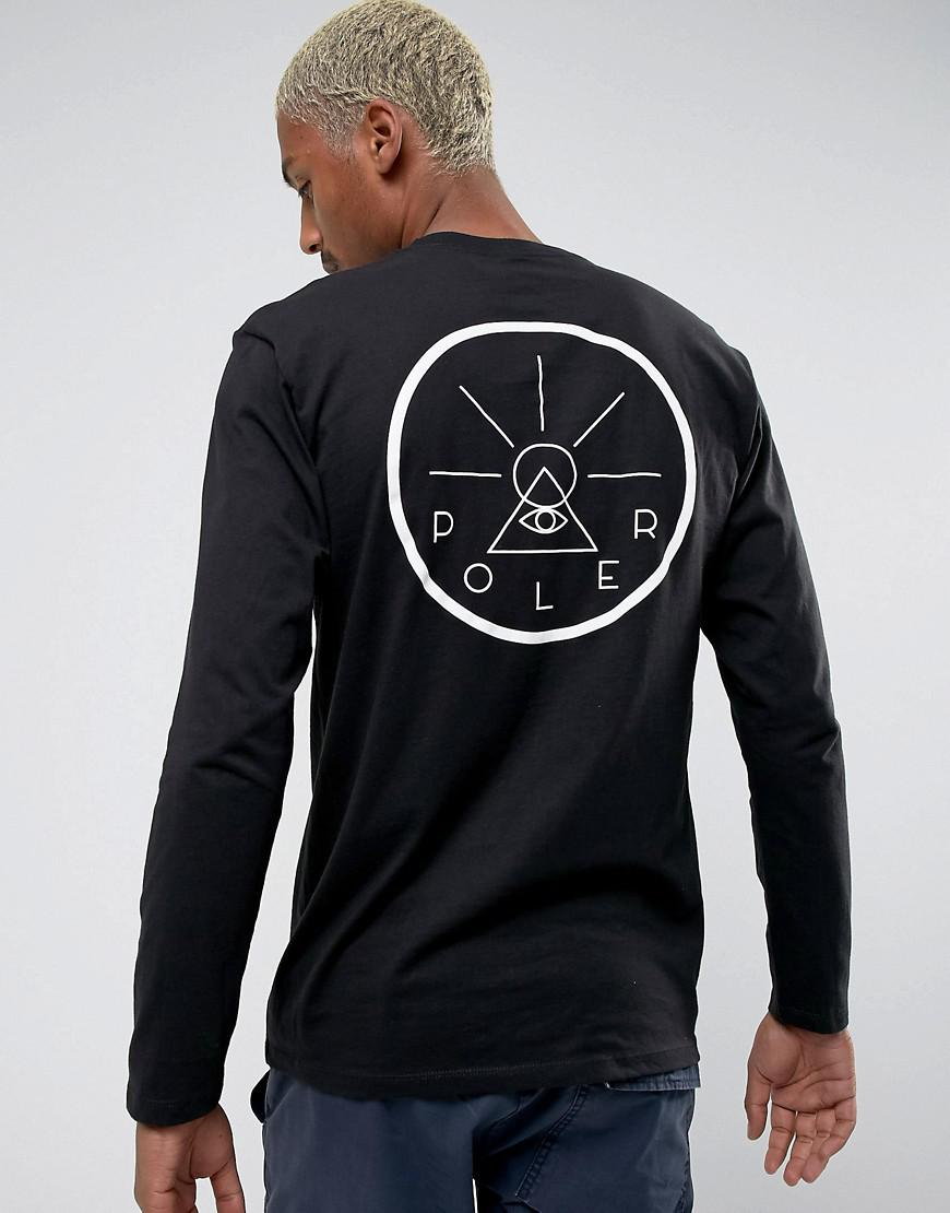 Lyst poler long sleeve t shirt with golden circle back print in view fullscreen pooptronica
