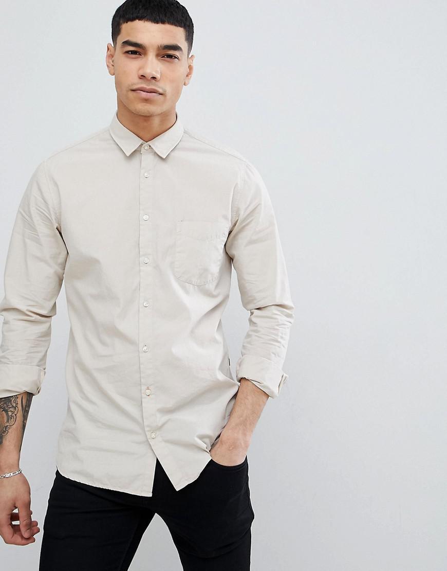 67ebaab97 BOSS - Multicolor Boss Slim Fit Poplin Shirt In Stone for Men - Lyst