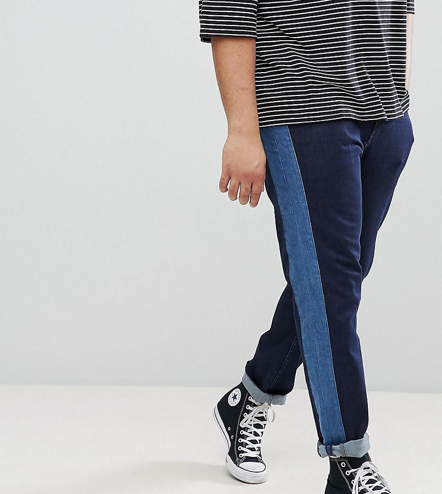 Slim Jeans In Indigo With Side Stripe Insert - Indigo Asos BsODq