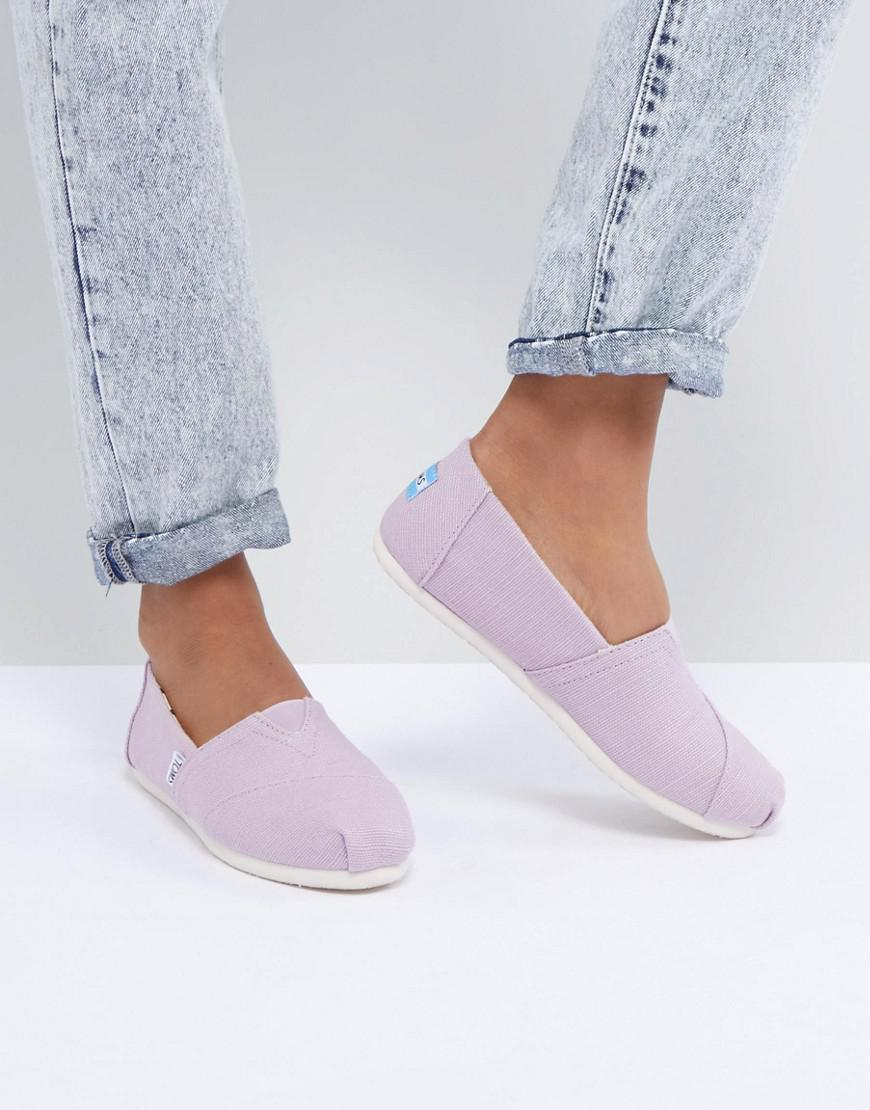 fff05e6a6ab TOMS Alpargata Soft Lilac Heritage Canvas Shoes in Purple - Lyst