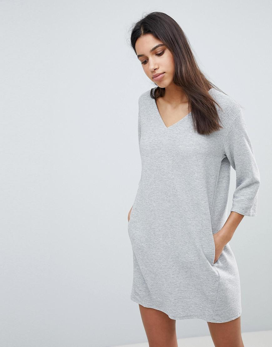 31704d87c6 French Connection Sudan Luella Jersey Shift Dress in Gray - Lyst