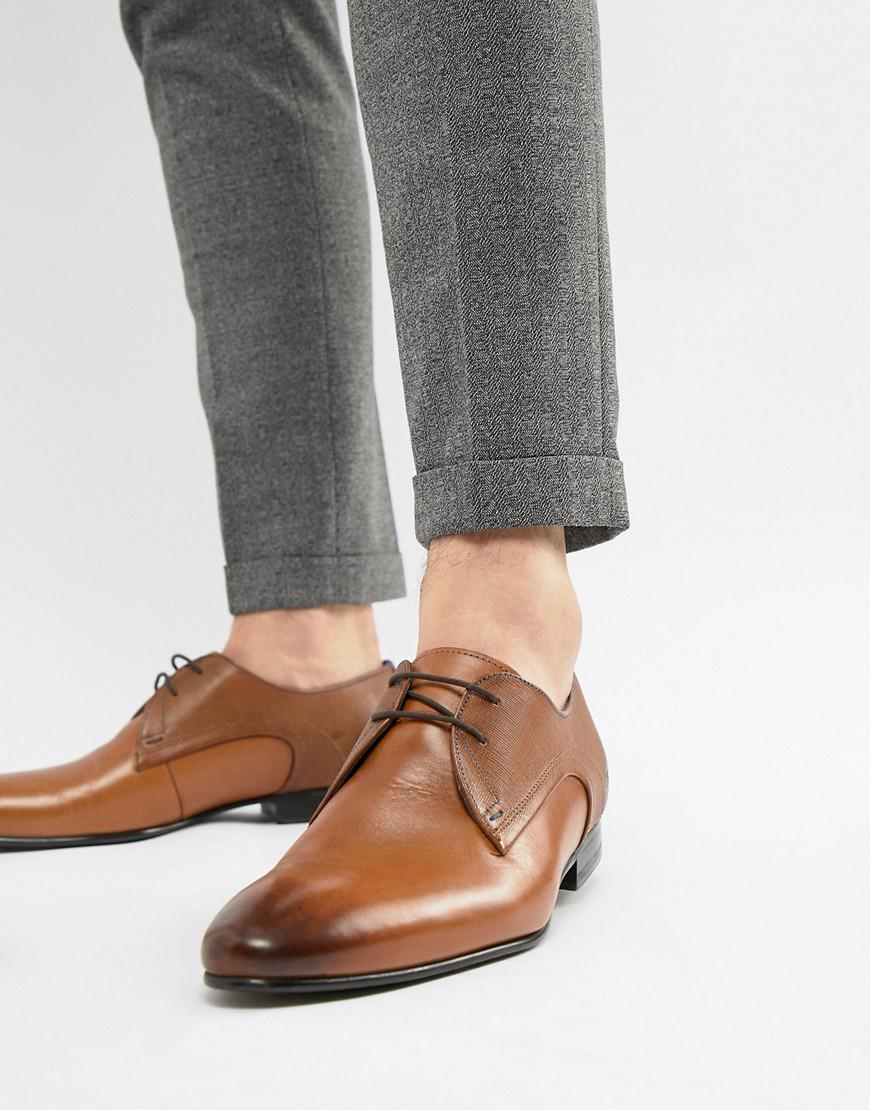 ddf84716edb Ted Baker Peair Derby Shoes In Tan Leather in Brown for Men - Lyst