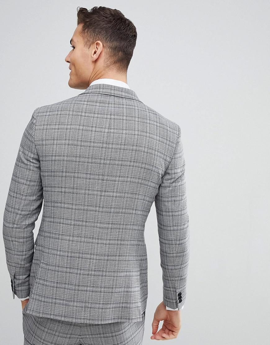 Lyst - Moss Bros Moss London Skinny Wedding Suit Jacket In Grey ...