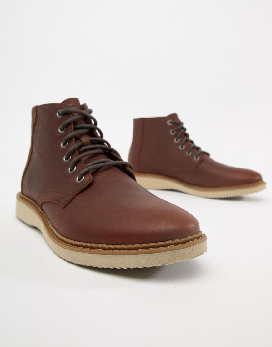 bf31c5d8eef TOMS Porter Water Resistant Lace Up Boots In Brown in Brown for Men ...