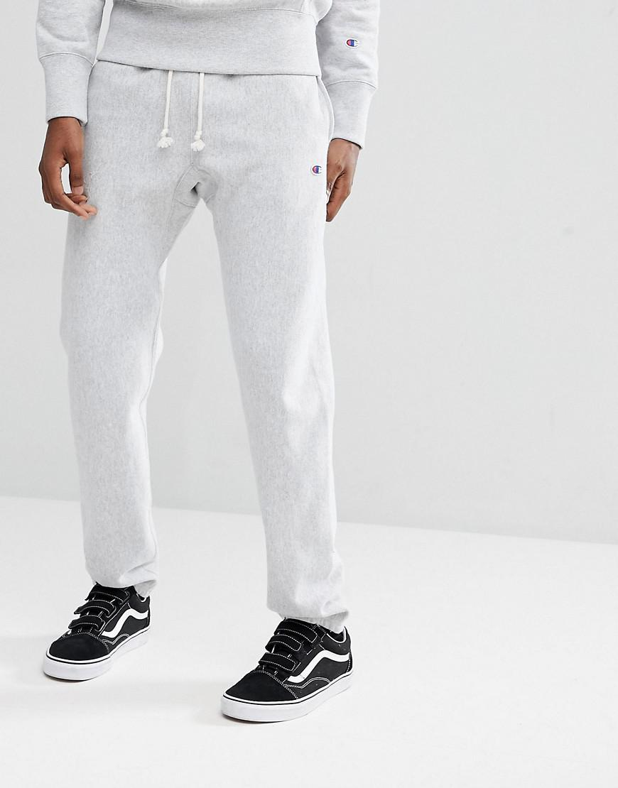7b0242db Lyst - Champion Joggers With Small Logo In Grey in Gray for Men