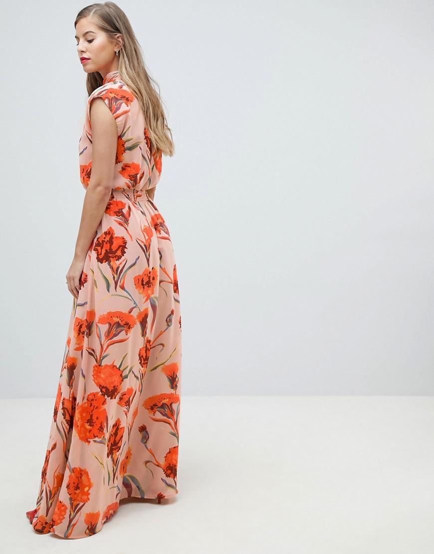 b01c70aea9 Y.A.S High Neck Floral Maxi Dress - Save 25% - Lyst