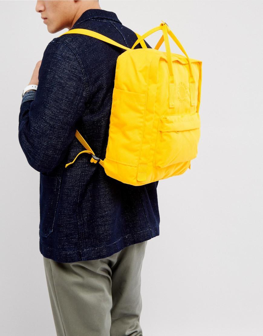 Lyst Fjallraven Re Kanken Backpack In Yellow 16l For Men Classic Sunflower Gallery