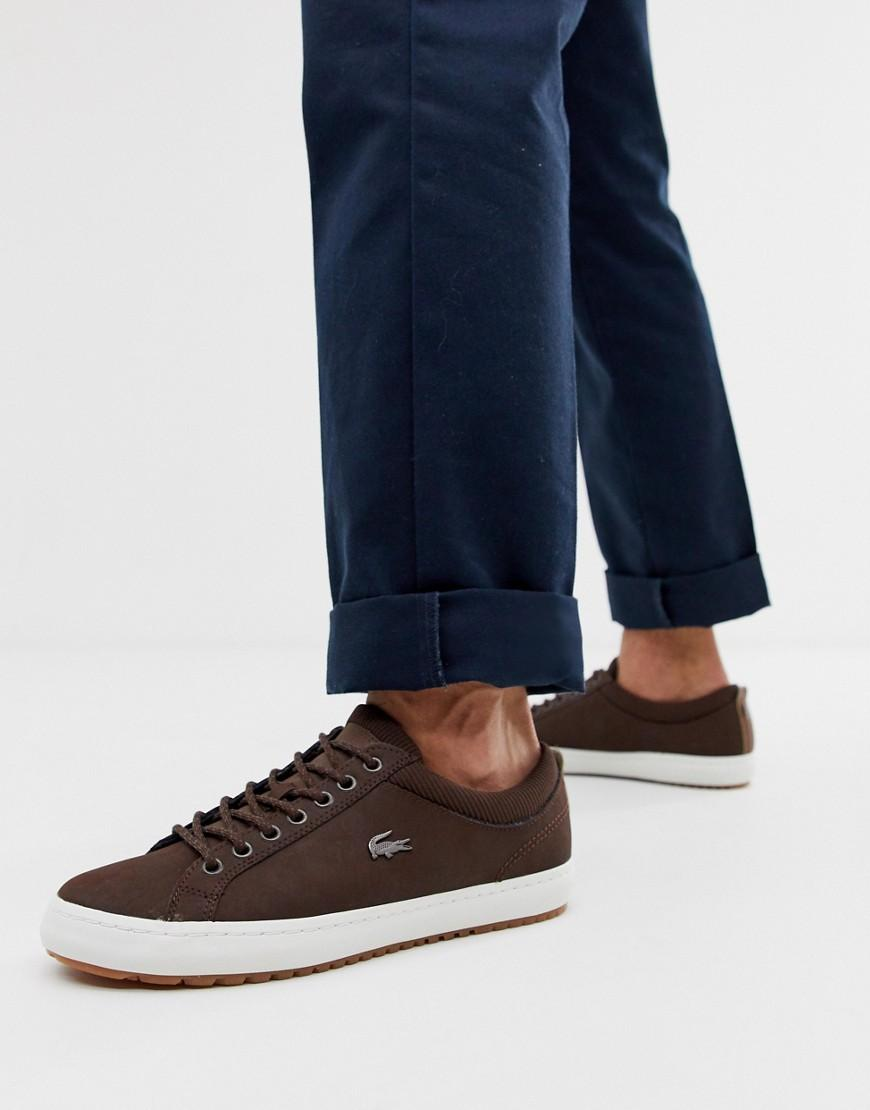 d7d86d9c0 Lacoste Leather Trainer In Brown in Brown for Men - Lyst