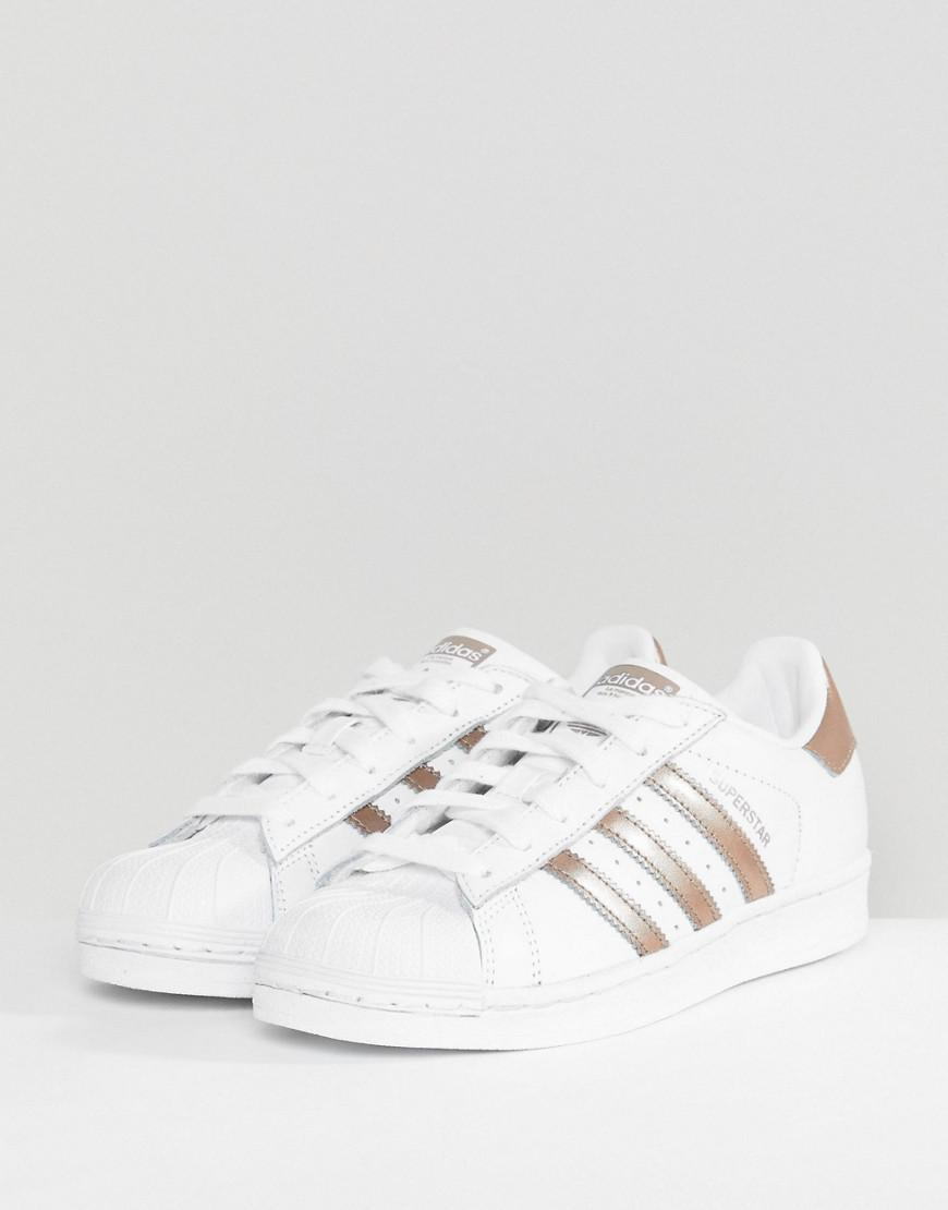 pretty nice 7864c 7b732 ... promo code for adidas originals superstar sneakers in white and rose  gold in white f206b 2e696